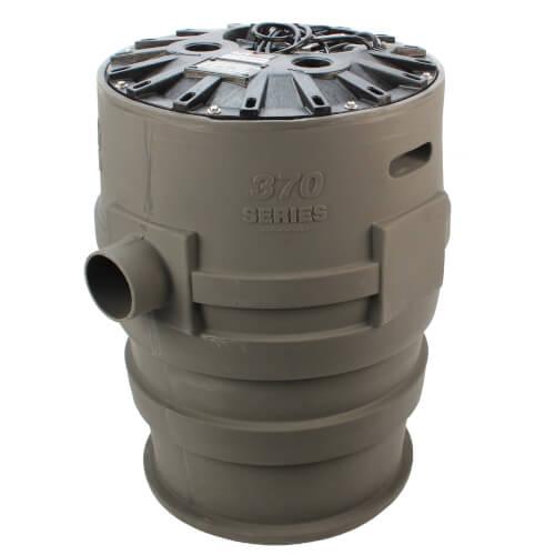 "4/10 HP Sewage Pump System - 115v - 2"" Discharge - 21"" x 30"" Basin Product Image"