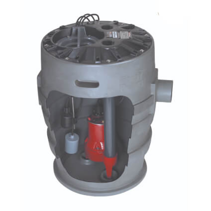 "1/2 HP Sewage Pump System w/ Outdoor Alarm - 115v - 2"" Discharge - 21"" x 30"" Basin Product Image"