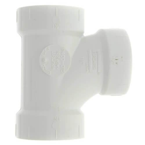 "1-1/2"" PVC DWV Sanitary Tee Product Image"