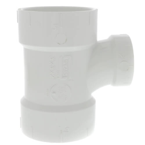 "3"" x 3"" x 2"" PVC DWV Sanitary Tee Product Image"
