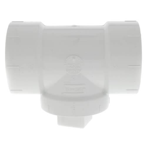 "3"" PVC DWV Cleanout Tee w/ Standard Plug Product Image"