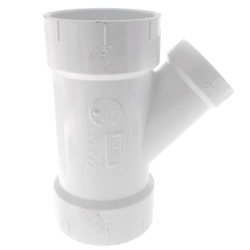 "3"" x 3"" x 2"" PVC DWV Wye Product Image"