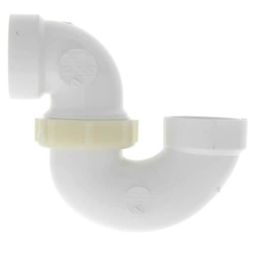 "1-1/2"" PVC DWV P-Trap w/ Plastic Nut Product Image"