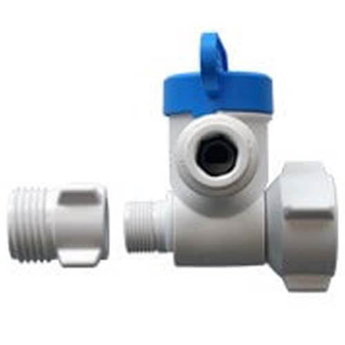 """1/2"""" NPS x 3/8"""" Female Compression x 3/8"""" OD Angle Stop Adapter Valve (Conversion Thread) Product Image"""