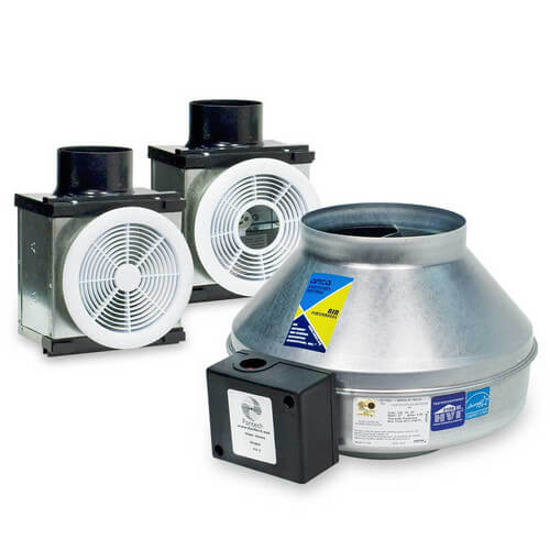 """PB270HV-2 Combination Premium Bath Fan, One Halogen Light/One Vent Only (Dual Grille), Uses 4"""" & 6"""" Duct Product Image"""