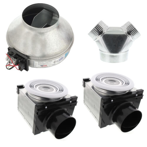 """4"""" & 6"""" Dual-Grille Premium Bath Fan with Dimmable 7W LED Light, 67 W, 270 CFM (120V) Product Image"""