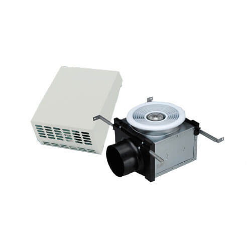 """PBW110H Exterior Wall Mount Bath Fan w/ Dimmable Halogen Light, 4"""" Duct Product Image"""