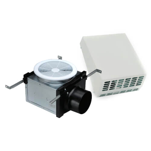 """4"""" Exterior Mount Bath Fan with Dimmable 10W LED Light, 19 W, 120 CFM (120V) Product Image"""