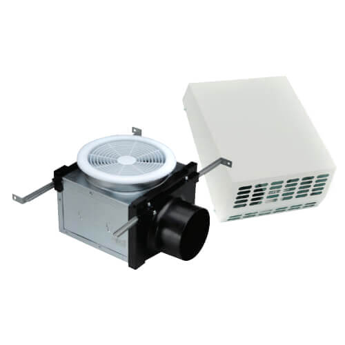"""4"""" Exterior Mount Bath Fan with Dimmable 7W LED Light, 19 W, 120 CFM (120V) Product Image"""