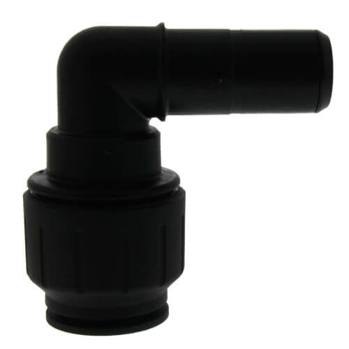 "PEI222828E 3/4"" CTS x 3/4"" Stem Black Plug-In 90° Elbow, Black Product Image"