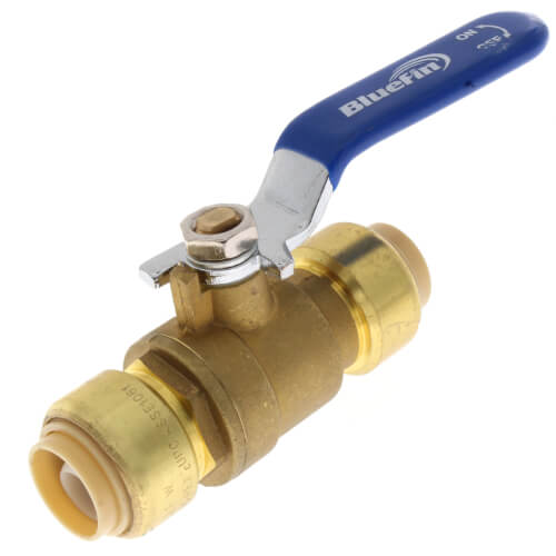 "1/2"" Push Fit Ball Valve (Lead Free) Product Image"