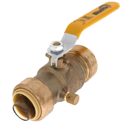 """1"""" Push-Fit Ball Valve with Drain (Lead Free) Product Image"""