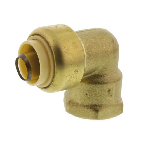 """1/2"""" Push Fit x FNPT 90° Elbow (Lead Free) Product Image"""