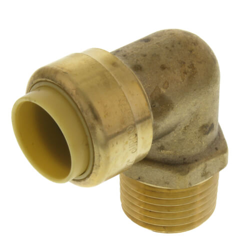 """1/2"""" Push Fit x MNPT 90° Elbow (Lead Free) Product Image"""