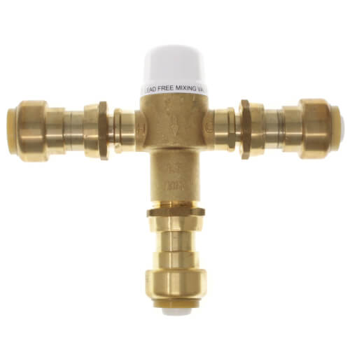 "3/4"" Union Push-Fit Mixing Valve, 80 to 120F (Lead Free) Product Image"