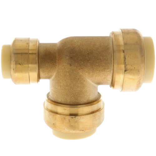 """3/4"""" x 1/2"""" x 3/4"""" Push Fit Reducing Tee (Lead Free) Product Image"""