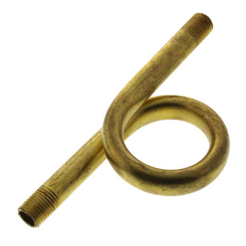 """1/4"""" Straight Brass Pigtail Product Image"""