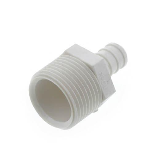 "1/2"" PEX x 3/4"" MPT PolyAlloy Crimp Adapter Product Image"
