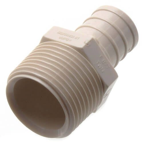 "3/4"" PEX x 3/4"" MPT PolyAlloy Crimp Adapter Product Image"