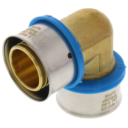 """1"""" PEX Press 90° Elbow w/ Attached Sleeve (Lead Free) Product Image"""