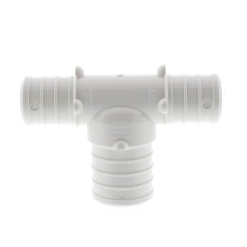 "3/4"" x 3/4"" x 1"" PolyAlloy PEX Crimp Reducing Tee Product Image"