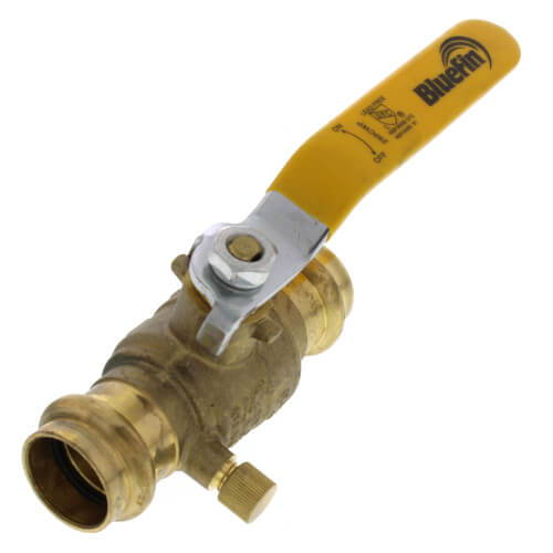 "3/4"" Full Port Press Ball Valve w/ Drain (Lead Free) Product Image"