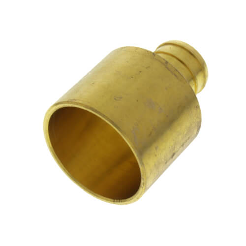 """3/4"""" PEX x 1"""" Female Sweat Copper Pipe Brass Adapter (Lead Free) Product Image"""