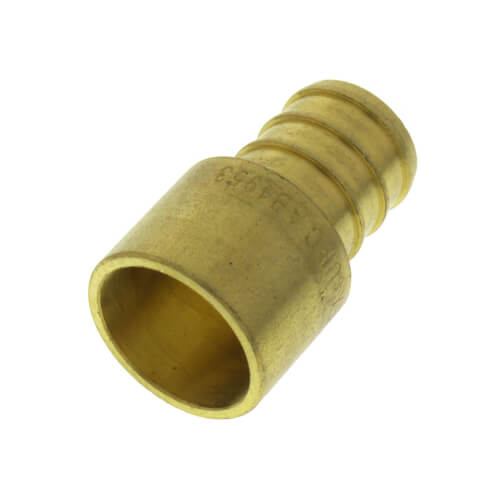 """5/8"""" PEX x 1/2"""" Female Sweat Copper Pipe Brass Adapter (Lead Free) Product Image"""