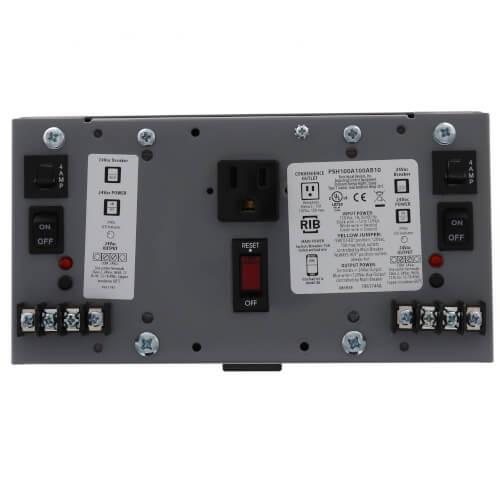 Enclosed Dual 100VA UL Class 2 Power Supply, 120 Vac to 24 Vac Product Image