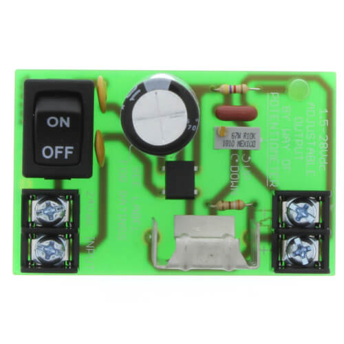 """2.75"""" Track Mount Non-Isolated Linear DC Power Supply w/ Switch, 24 Vac to 1.5-28 Vdc Product Image"""