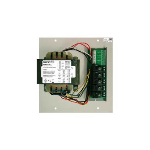 Track Mount Single 500VA Power Supply w/ 5 - 100VA Class 2 Outputs, 480/277/240/120 Vac to 24 Vac Product Image