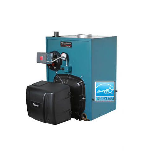 PV8H4, 141,000 BTU Output V8H Water Boiler w Tankless Coil, w/ Beckett Burner (Oil) Product Image
