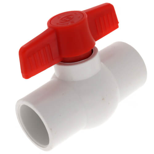 "1"" SCH 40 PVC Ball Valve (Solvent) Product Image"