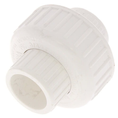 "3/4"" PVC Sch. 40 Socket Union w/ Buna O-ring Product Image"