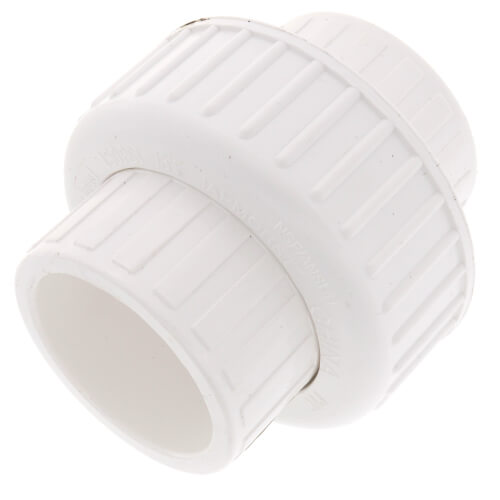 "1-1/4"" PVC Sch. 40 Socket Union w/ Buna O-ring Product Image"