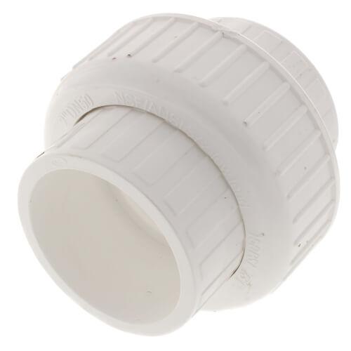 "2"" PVC Sch. 40 Socket Union w/ Buna O-ring Product Image"