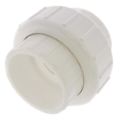 "3"" PVC Sch. 40 Socket Union w/ Buna O-ring Product Image"