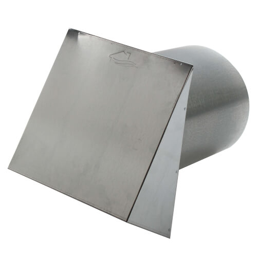 """PWC10R 10"""" Galvanized Steel Wall Cap Product Image"""