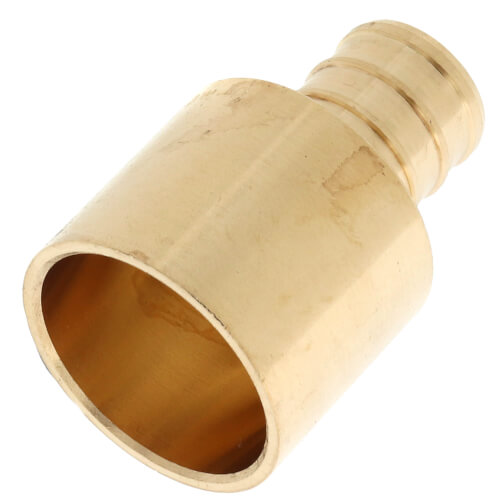 """5/8"""" PEX x 3/4"""" Female Sweat Copper Pipe Brass Adapter (Lead Free) Product Image"""