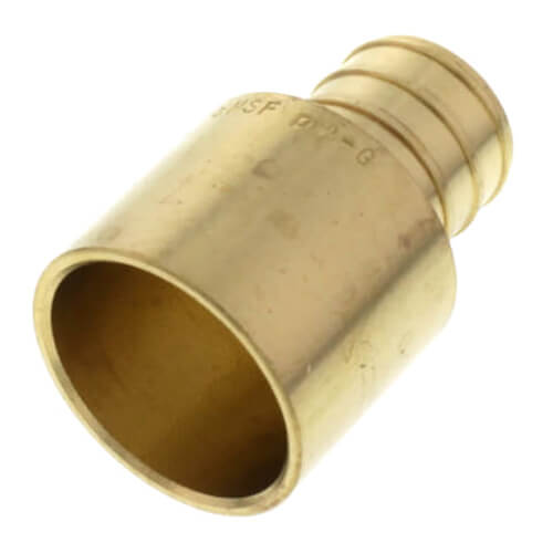 """3/4"""" PEX x 3/4"""" Female Sweat Copper Pipe Brass Adapter (Lead Free) Product Image"""