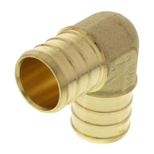 "3/4"" PEX x 3/4"" PEX Brass 90 Elbow (Lead Free) Product Image"