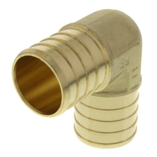 "1"" PEX x 1"" PEX Brass 90 Elbow (Lead Free) Product Image"