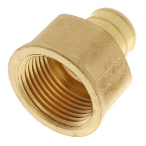 "3/4"" PEX x 3/4"" NPT Brass Female Adapter (Lead Free) Product Image"