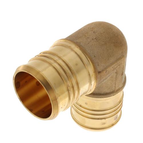 "2"" PEX x 2"" PEX Brass 90 Elbow (Lead Free) Product Image"