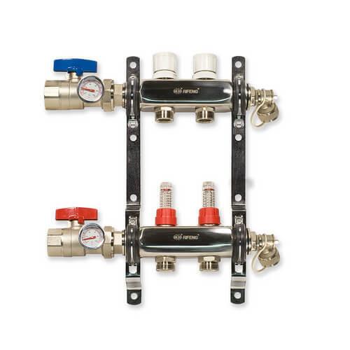 """2 Loop Stainless Steel Manifold Package (1/2"""" PEX) Product Image"""