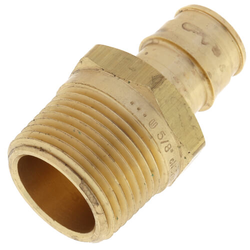 """5/8"""" ProPEX x 3/4"""" NPT Brass Male Adapter Product Image"""