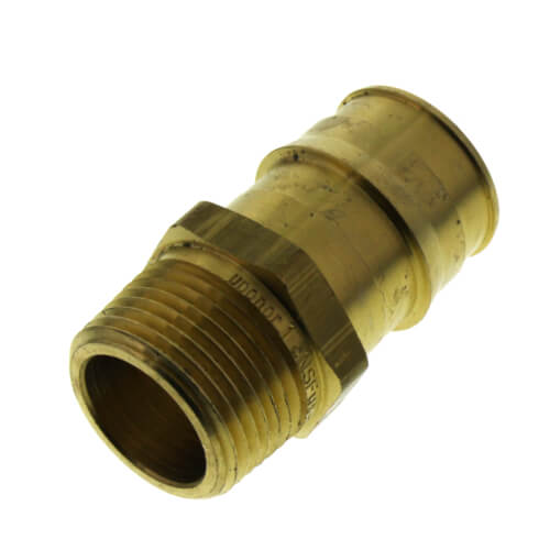 """1"""" ProPEX x 3/4"""" NPT Brass Male Adapter Product Image"""