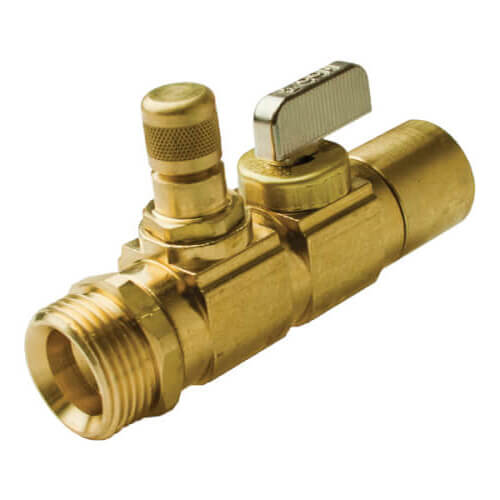 """5/8"""" ProPEX x 3/4"""" Copper Adapter Ball and Balancing Valve Product Image"""
