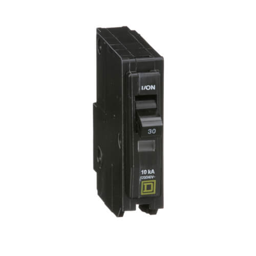 QO Single Pole Standard Miniature Circuit Breaker (120/240V AC, 30A, 10 kA) Product Image