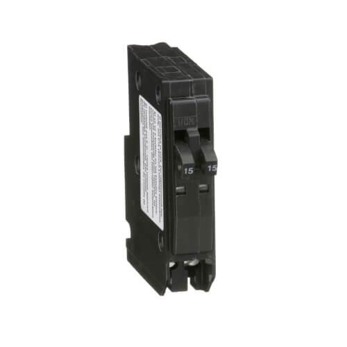 QO Single Pole Miniature Tandem Circuit Breaker (120/240V, 15A) Product Image